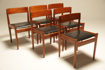 Teak Dining Chairs by Grete Jalk for Poul Jeppesen
