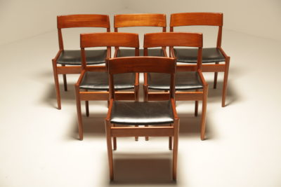 Teak Dining Chairs by Grete Jalk for Poul Jeppesen model P J-3-2