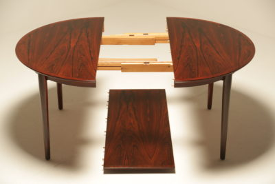 Arne Vodder Model 204 Rosewood Extending Dining Table for Sibast