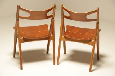 Set of 4 CH 29 Sawbuck Dining Chairs by Hans Wegner for Carl Hansen 1950s