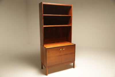 Rosewood Bookcase Cabinet with brass handles vintage rosewood bookcase