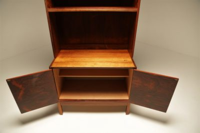Rosewood Bookcase Cabinet with brass handles