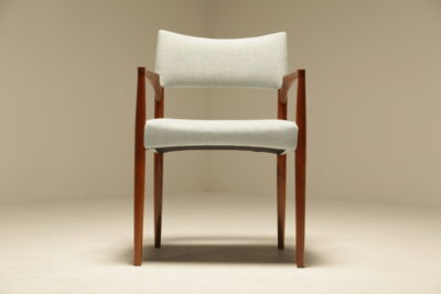 Danish Teak Reupholstered Elbow Chair