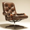 Danish Bentwood and Leather Swivel Chair retro leather chair dublin