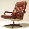 Burgundy Leather Lounge Chair by Gote Mobler, Sweden leather lounge chair dublin