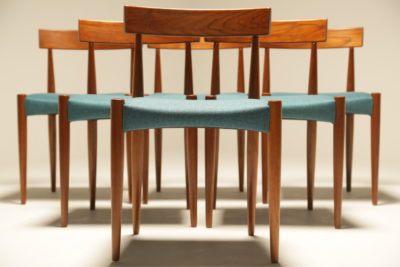 Arne Hovmand Olsen Dining Chairs for Mogens Kold mid-century teak dining chairs