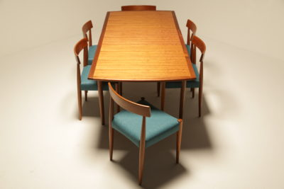 ib kofod larsen table arne hovmand olsen chairs