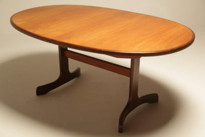 Teak Oval Whale Tail Dining Table by G Plan