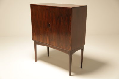 Danish Modern Rosewood Cocktail Bar Cabinet
