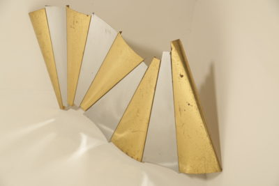 Mid-century modern Ribbon Wave Wall Sculpture by Curtis Jere