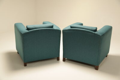 Vintage Teal Club Armchairs