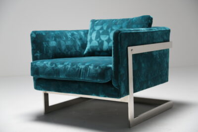 Floating Cube Armchair by Milo Baughman for Thayer Coggin