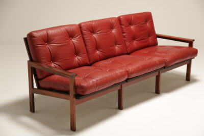 A Rosewood 3 Seat Illum Wikkelso Sofa