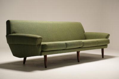 1960s Large Danish Four Seater Sofa