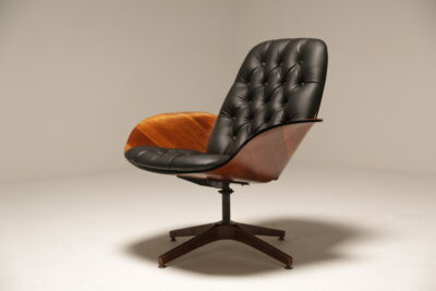 """George Mullhauser Plycraft Swivel Lounge Chair """"Mr. Chair"""""""
