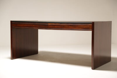 Mid-Century 1970s Executive Rosewood Desk