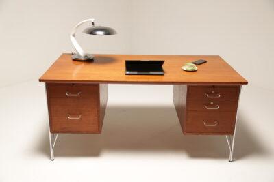 1970s Danish Teak Desk by Heinrich Roepstorff
