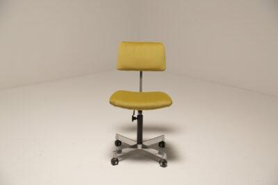 Vintage Lime Green Velvet Swivel Office Chair