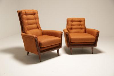 Vintage Koehler Pearsall His & Hers Armchairs
