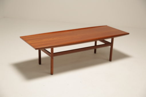 Vintage 1960s Teak 'Surfboard' Grete Jalk Style Coffee Table