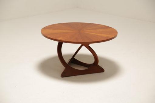 Vintage Soren Georg Jensen 'Sunburst' Teak Coffee Table for Kubus