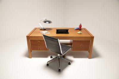 Vintage 1960s Scandinavian Oak Desk