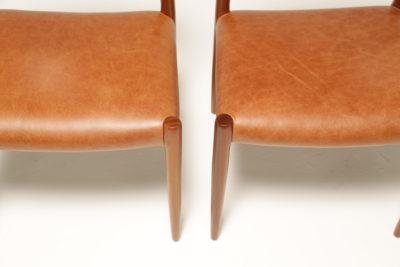 Vintage Set of Danish Niels Moller Model 75 Teak Dining Chairs