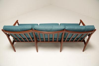 Vintage Grete Jalk Sofa in Teal for France & Daverkosen