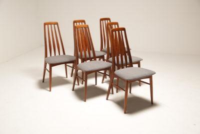 Vintage Set of Eva Teak Dining Chairs by Niels Koefoed