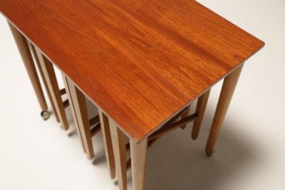 Vintage Teak Hundevad Nest of Tables