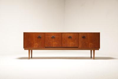 Vintage 1960s Nathan Corinthian Teak Sideboard