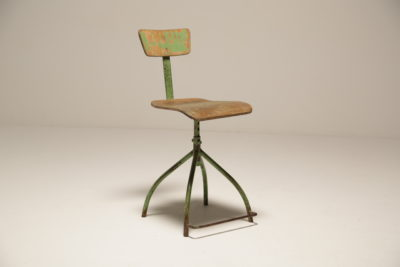Vintage Rustic Adjustable Factory Chair