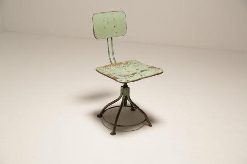 Vintage Rustic Green Factory Adjustable Chair