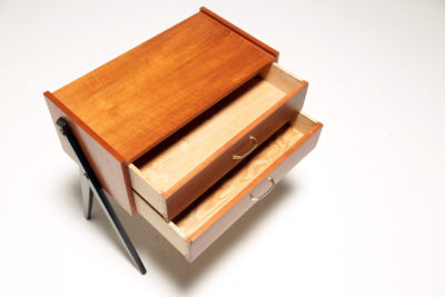 Vintage Scandinavian Teak Bedside Drawer Table