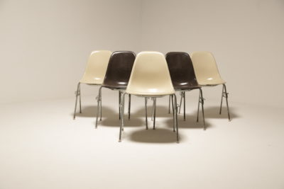 Vintage Fiberglass Stacking Chairs by Charles Eames for Herman Miller