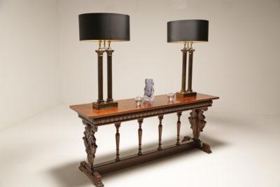 Antique Italian Walnut Console Table