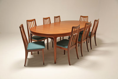 Vintage Set of Eight G-Plan Fresco Teak Dining Chairs
