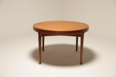 Vintage Danish Extending Teak Dining Table by MSE Møbler