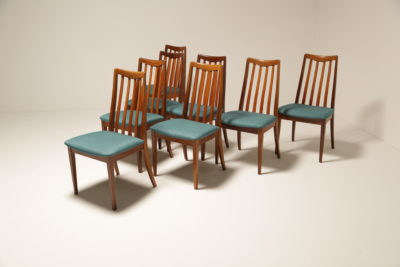 Vintage Set of Eight G-Plan Fresco Teak Dining Chairs