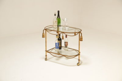 1950s Italian Hollywood Regency Style Drinks Trolley