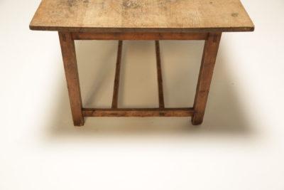 Victorian Oak Top Farmhouse Kitchen Table