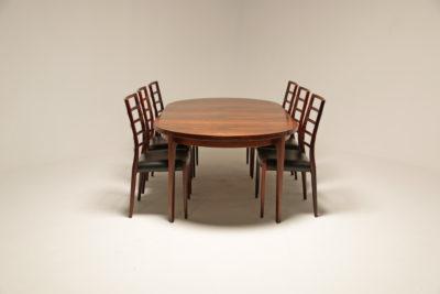 Vintage Danish Rosewood Extending Dining Table by CJ Rosengaarden