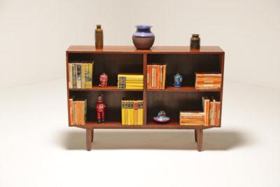 Vintage Scandinavian Rosewood Bookcase Unit