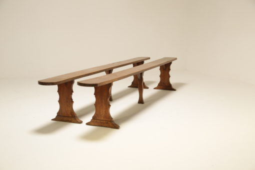 Period Rustic Pine School Benches