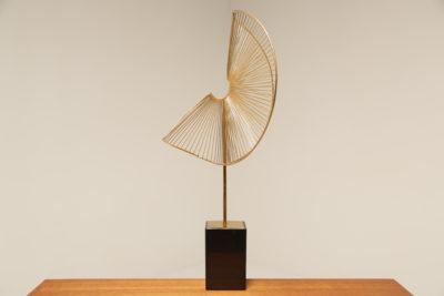 Mid Century Curtis Jere Style Spiral Sculpture