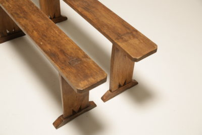 Period Rustic Pine Benches