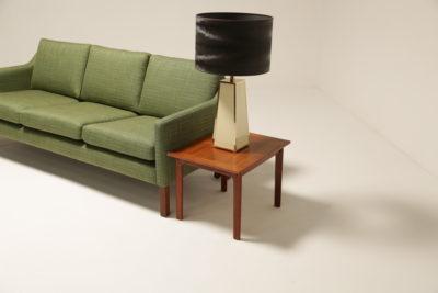 Vintage Danish Three Seat Sofa in Grass Green