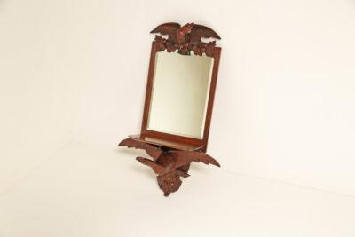Antique Victorian Mahogany Eagle Wall Mirror