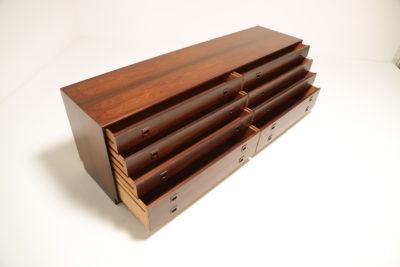 Vintage Danish Rosewood Chest of Eight Drawers by Preben Sorensen