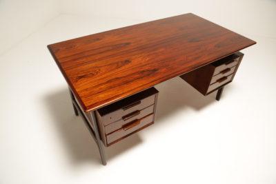 Vintage Danish Rosewood Desk Model 75 by Omann Jun A/S